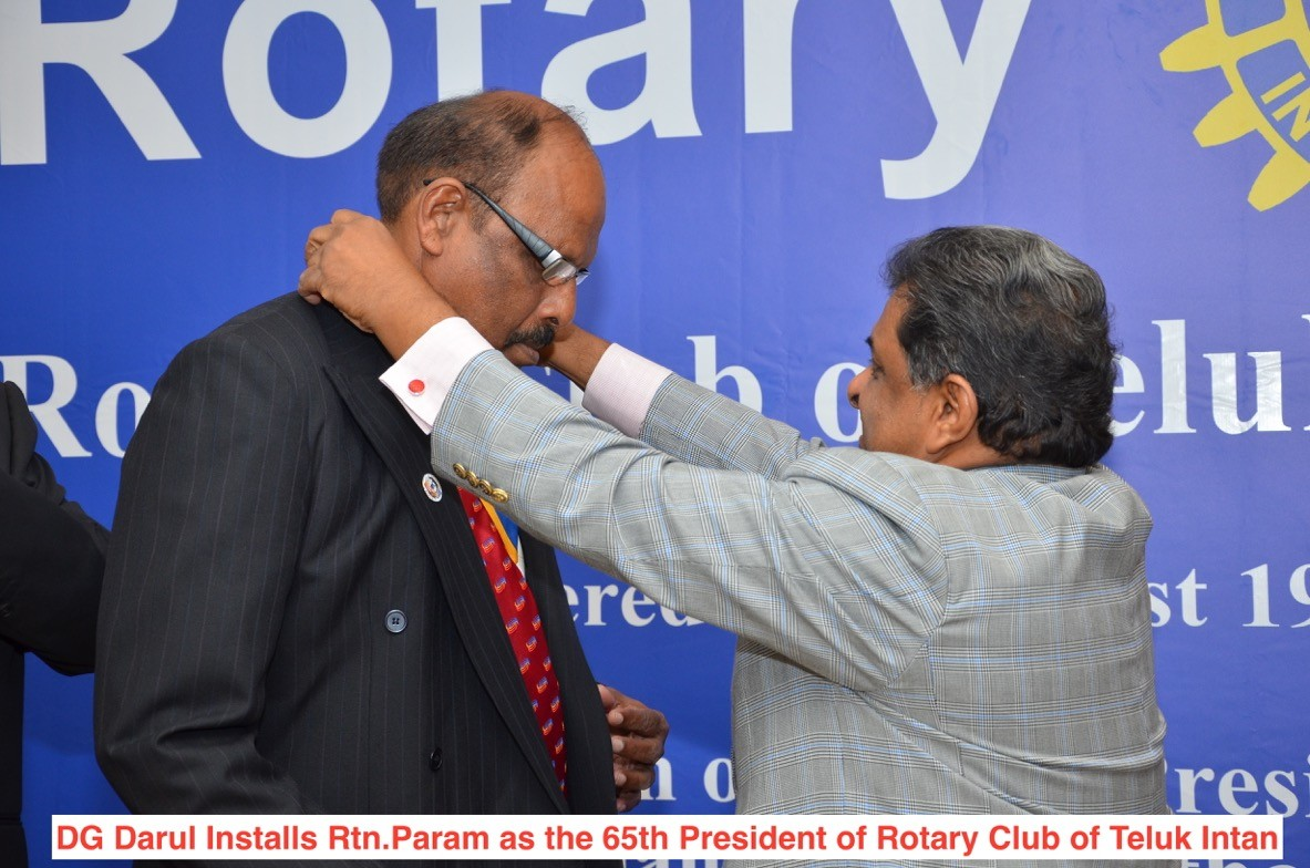Installation of Rotarian Paramanathan as 65th President