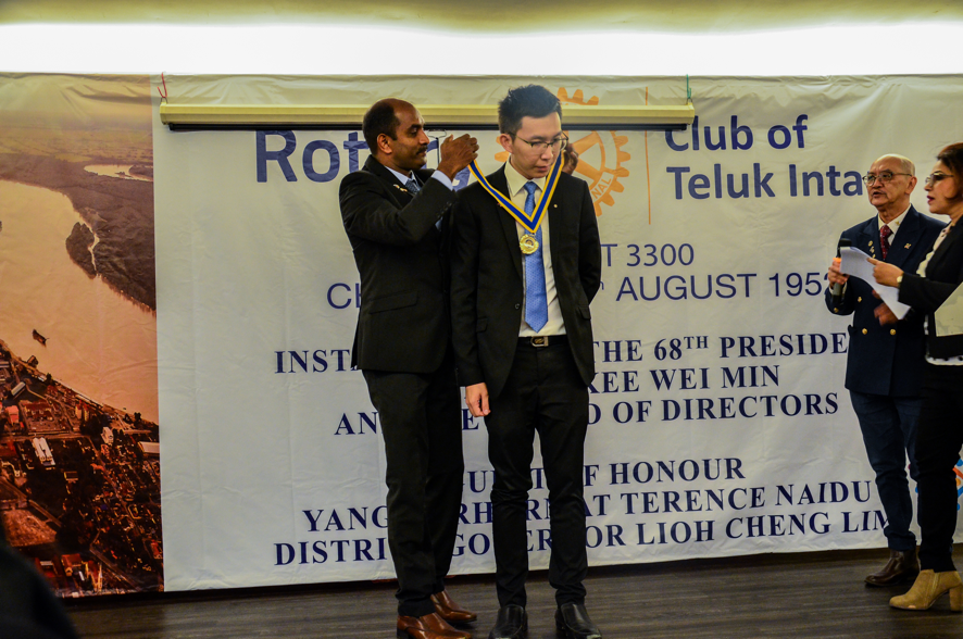 Installation of Rotarian Kee as the 68th President